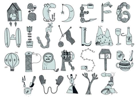 Kate Sutton's alphabet