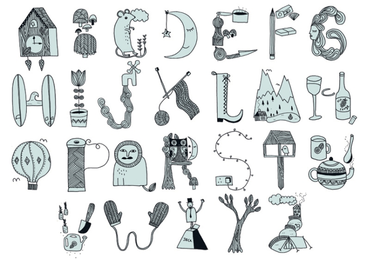 Kate Sutton's alphabet
