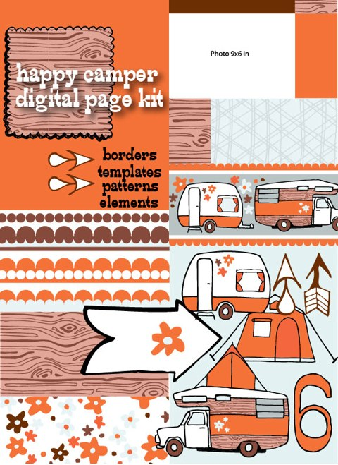 Happy Camper digital page kit