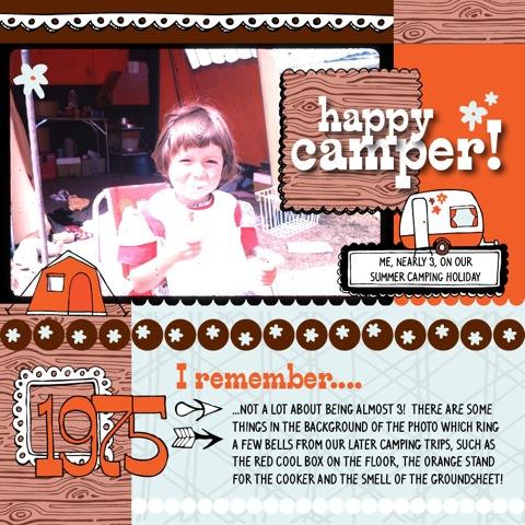 Happy Camper Scrapbook Page