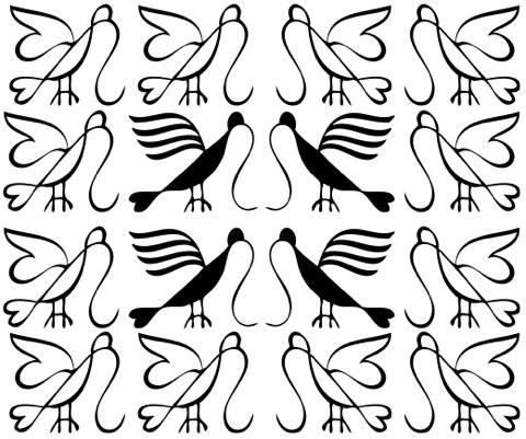 Briar press garamont birds