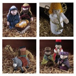 Crochet Nativity Collage