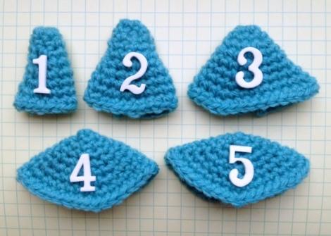 Amigurumi cones of various shapes