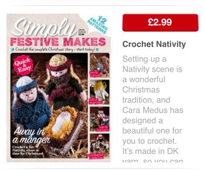 Crochet Nativity Apple Newsstand
