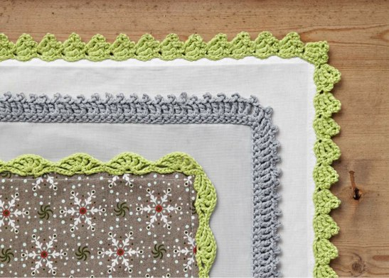 Simple Crochet Edging Patterns : Crochet edgings the easy way Cara Medus