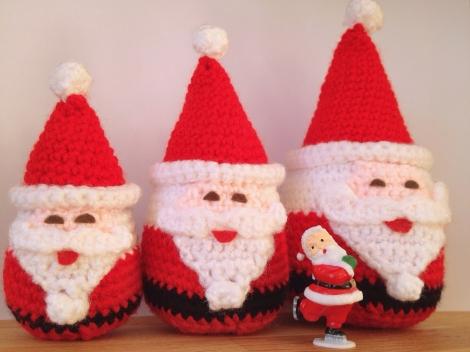 Russian doll amigurumi Santas