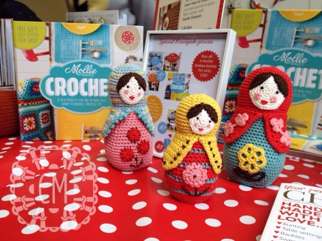 Renegade craft fair stand Mollie Makes crochet book