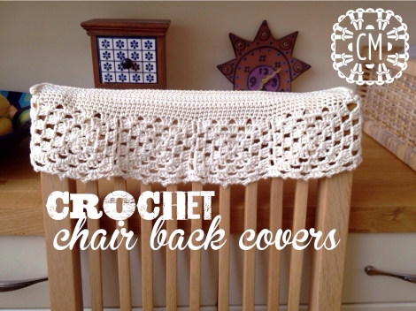 Crochet chair back covers