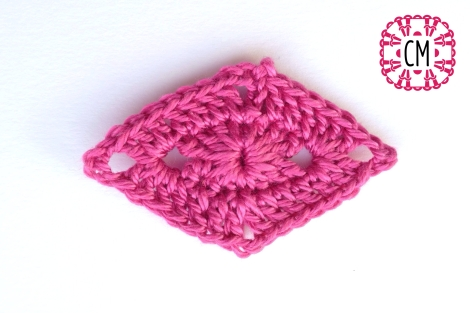 diamond crochet motif